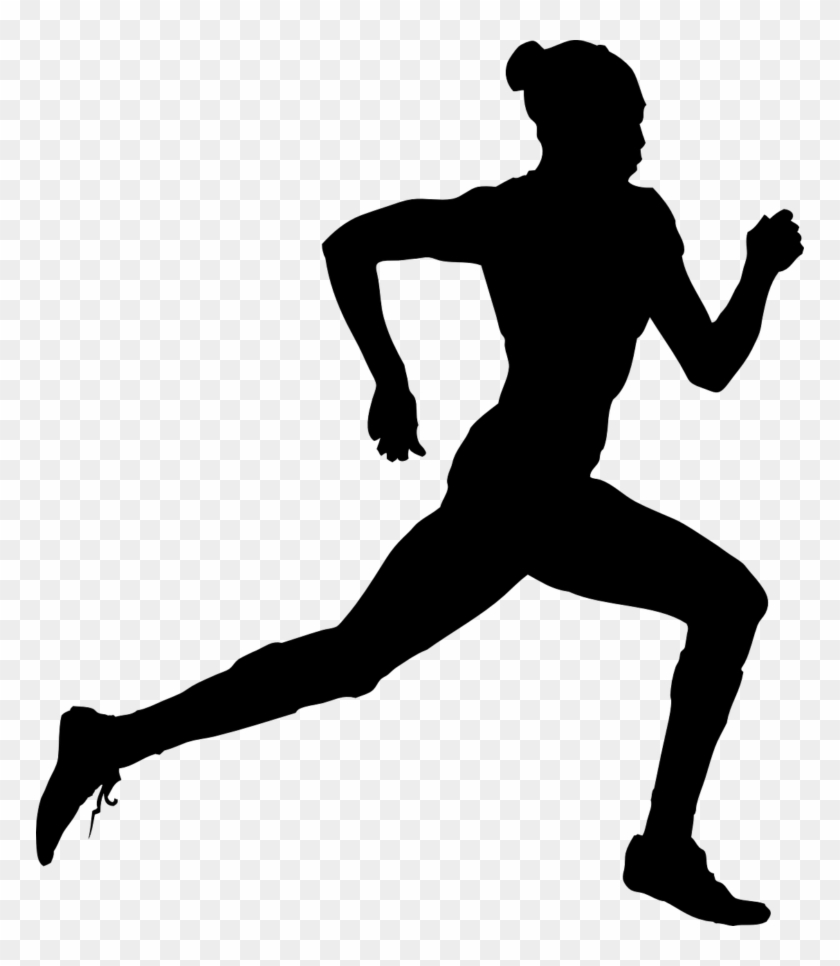 Running Clip Art - Track And Field Silhouette Png #800596