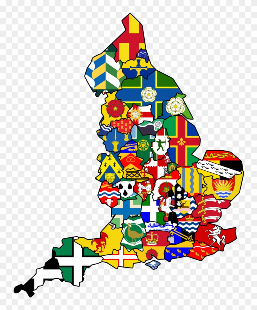 Map Of Uk With Counties.Uk Counties Flags Map By Britannialoyalist England Free