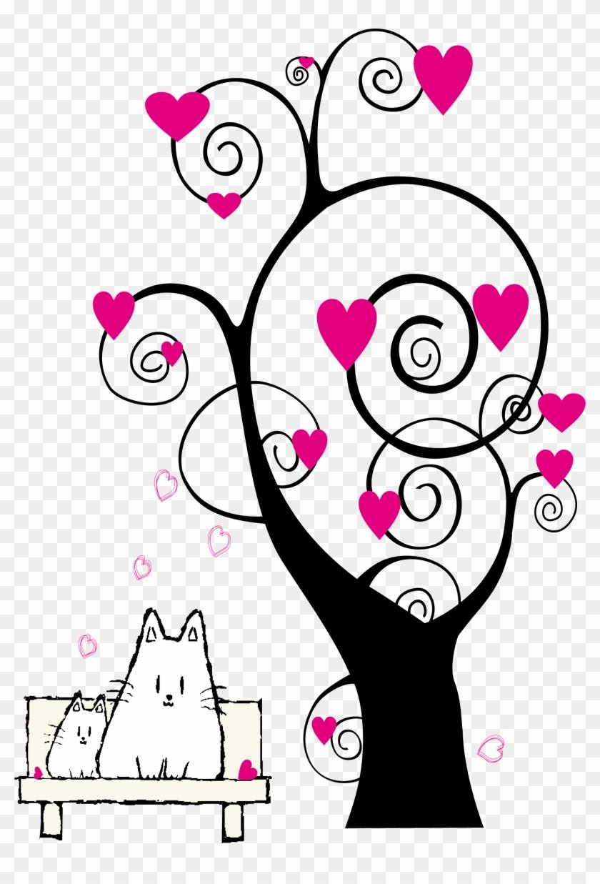Paper Hello Kitty Drawing Sticker - Dibujos De Arboles De Corazon #800978