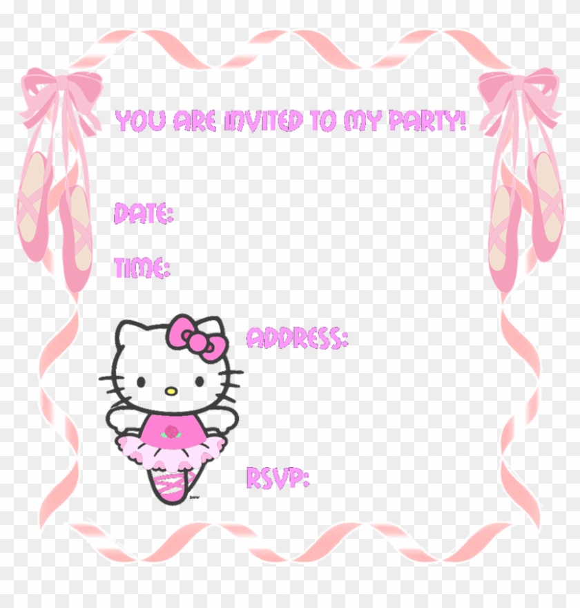 Hello Kitty Party Invitation Templates Hello Kitty Birthday