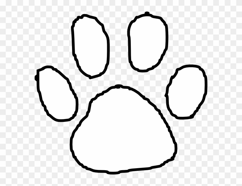 Tiger Paw Print Outline Clip Art At Clipart Library - White Tiger Paw Print #801093