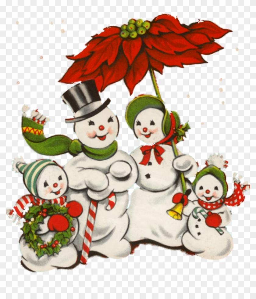 Image Du Blog Mamietitine - Vintage Snowman Christmas Clipart #801324