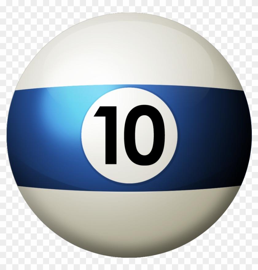 Florida Pool Tour - Pool Ball 10 Png #801326