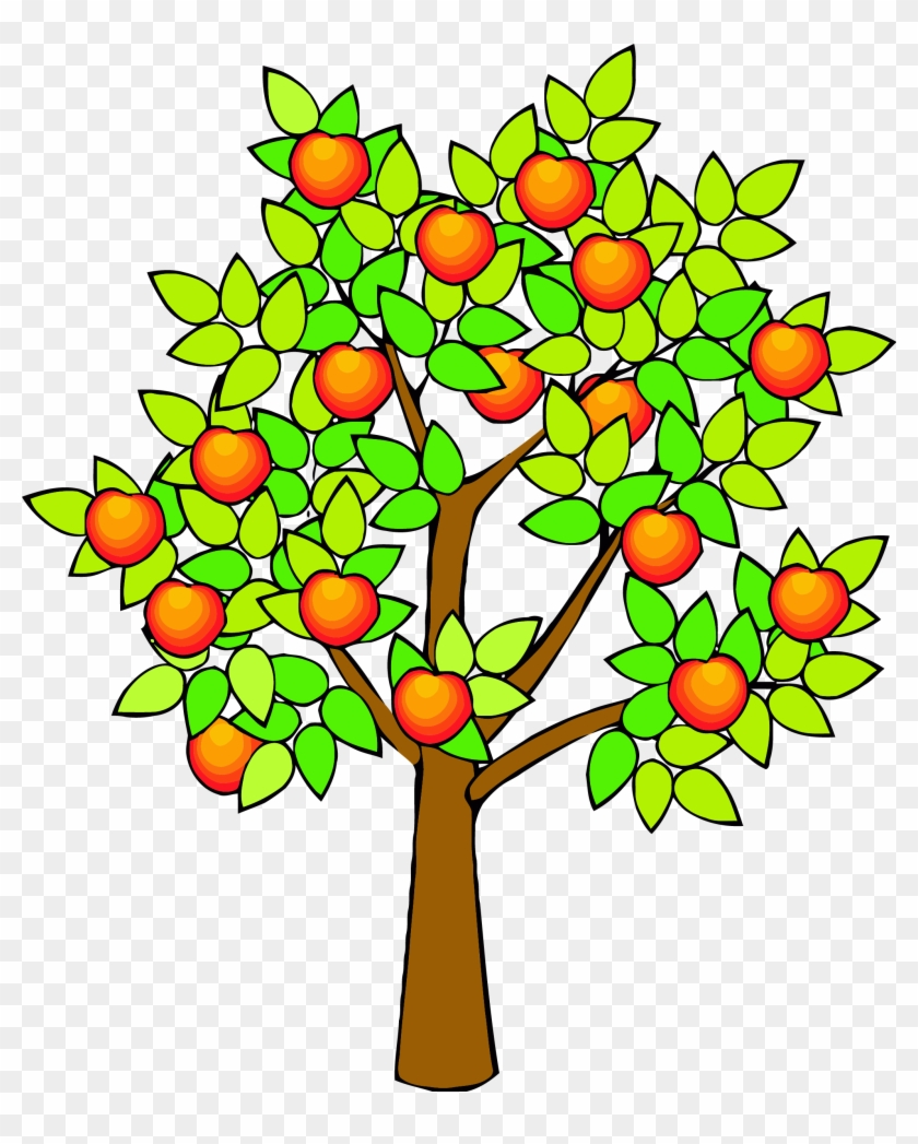 Spring Green Tree Clipart Png - Draw A Realistic Apple Tree #802292
