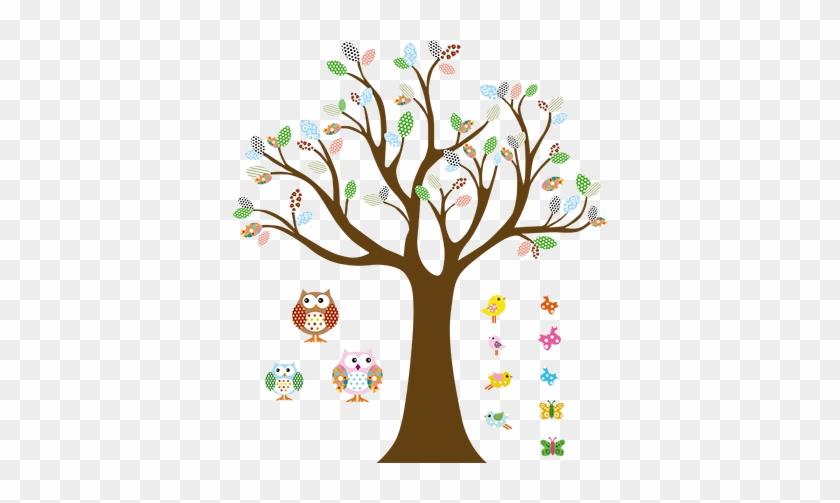 Animal Nursery Wall Tree Art (small) #802722
