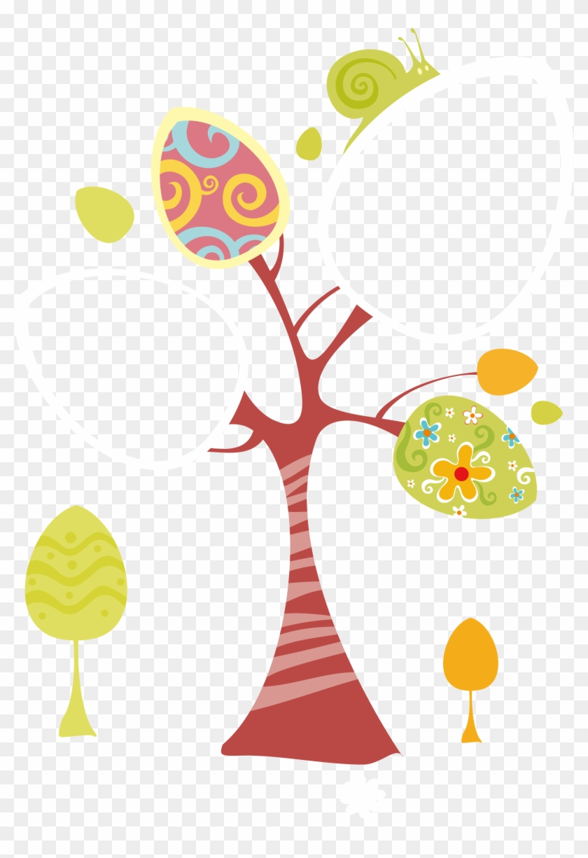 Child Painting Growth Record Material - Eggs On Spring Tree Easter Greeting For Sister Card #802793