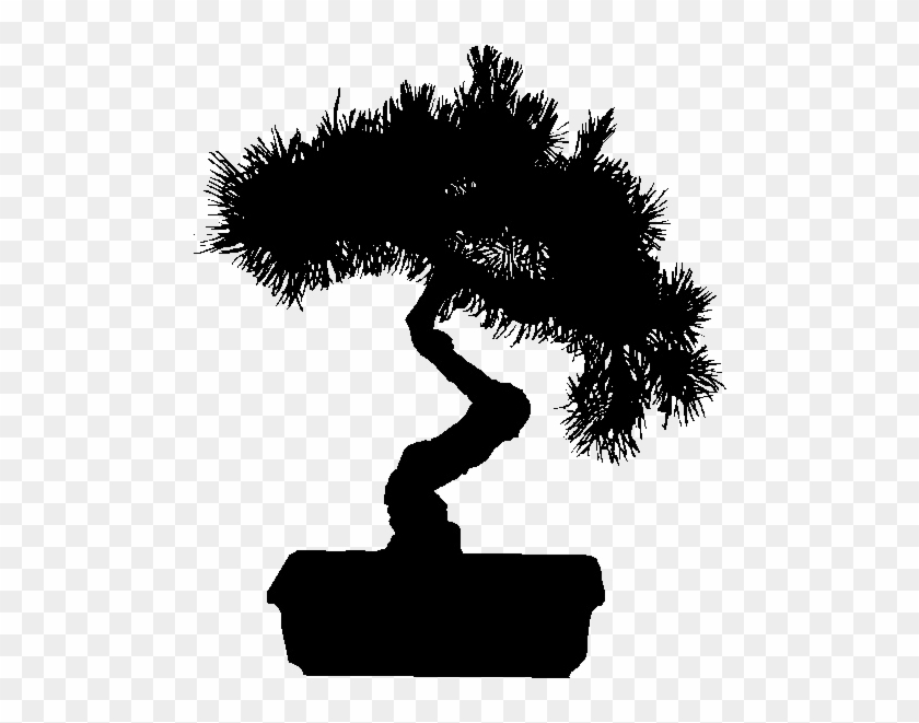 Flack Ap - Bonsai Tree Silhouette Png #803679