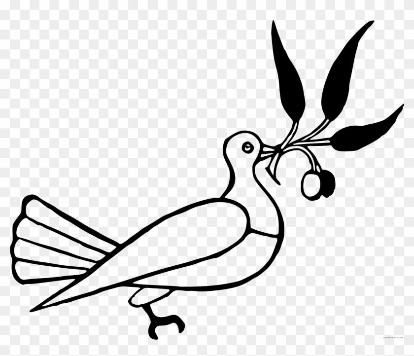 Dove Silhouette Animal Free Black White Clipart Images
