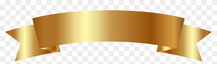 Gold Clipart Banner Pencil And In Color Gold Clipart - Gold Ribbon Banner Png #804471