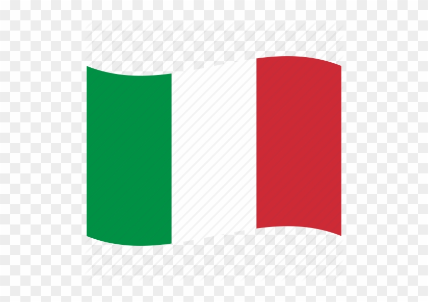 It, Italian Flag, Italy, Red, Rome, Waving Flag - Italian Flag Icon