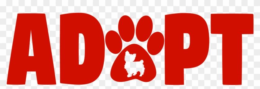 Sadly There Is Over Two And A Half Million Dog Who - Cute Pets Paw Cat Dog Adopt Red Wall Tapestry #805350