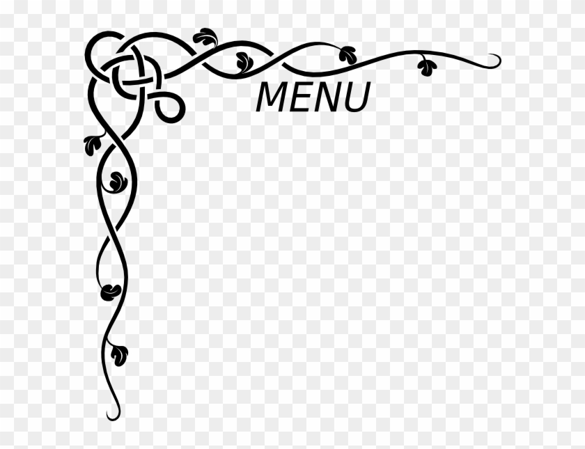 Menu Clip Art At Clker - Border Design For Invitation Card #805423