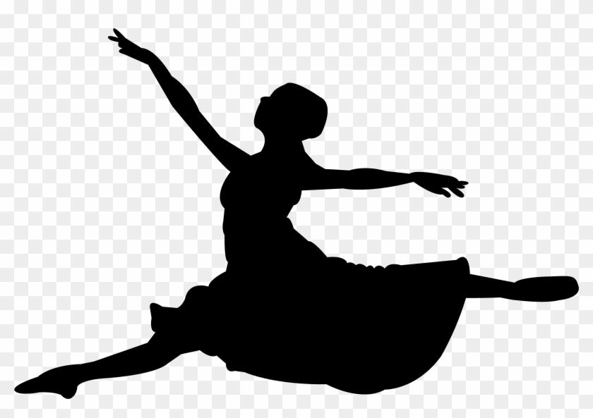 Ballet Dancer Dance Studio Wall Decal Art - Ballerina In Grand Jete #805627