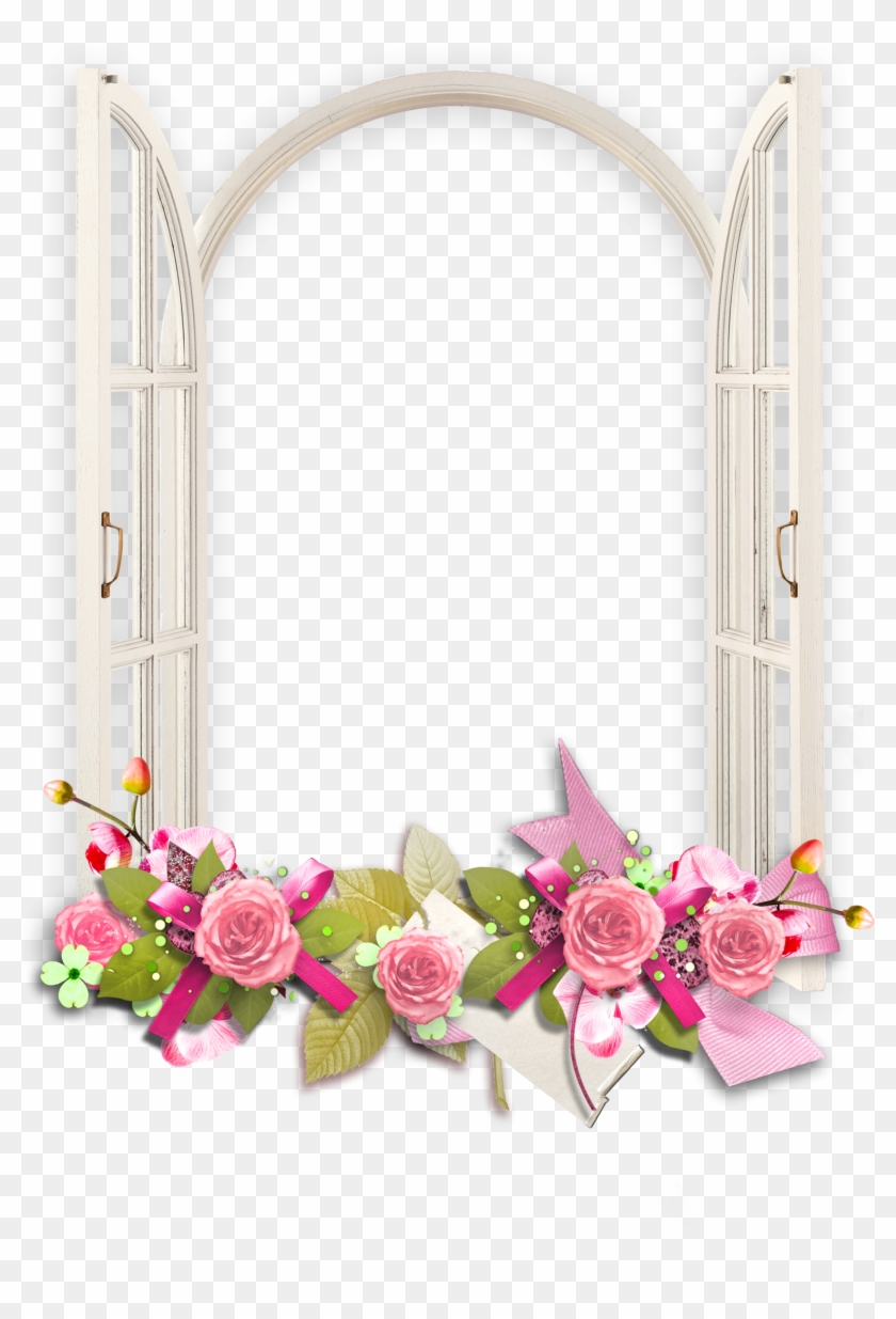 Window Picture Frames Clip Art - Transparent Png Flower Frame - Free ...