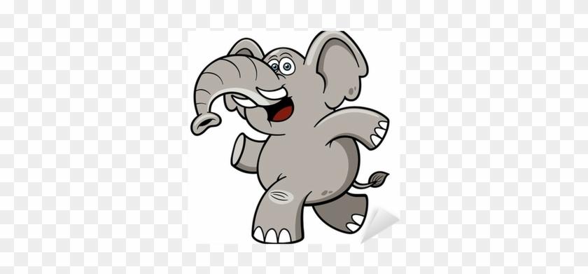 Vector Illustration Of Cartoon Elephant Sticker • Pixers® - Chistes De Computadora #806040