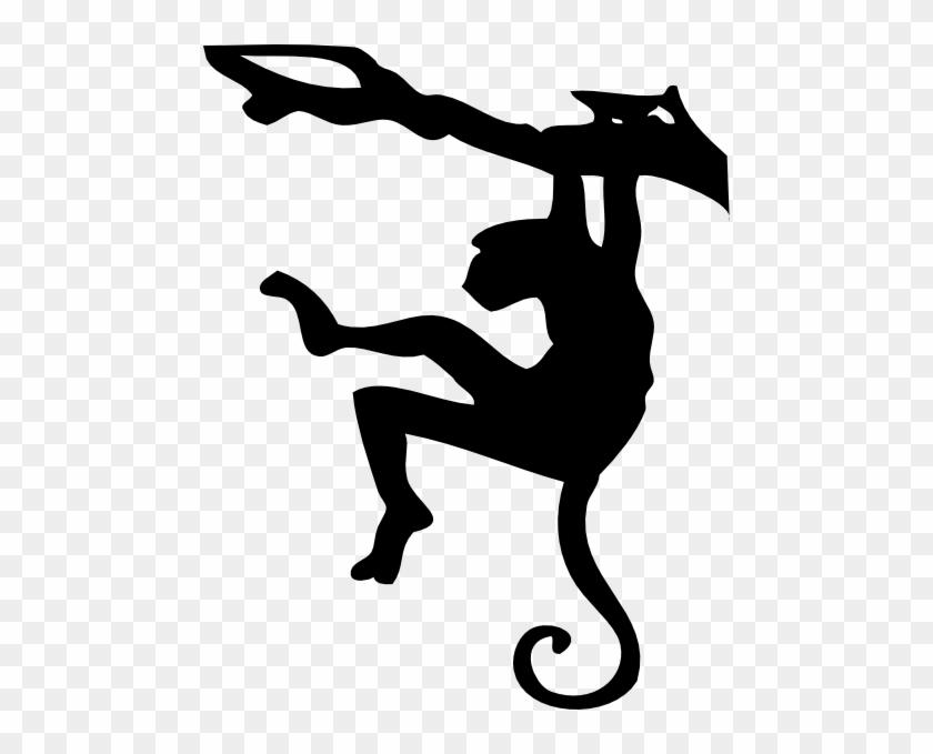 Monkey Clip Art At Clker - Monkey Silhouette #806137