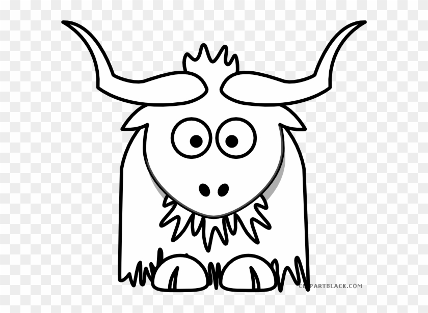 Standing Yak Animal Cartoon Character. Isolated On White Background...  Royalty Free Cliparts, Vectors, And Stock Illustration. Image 66894808.