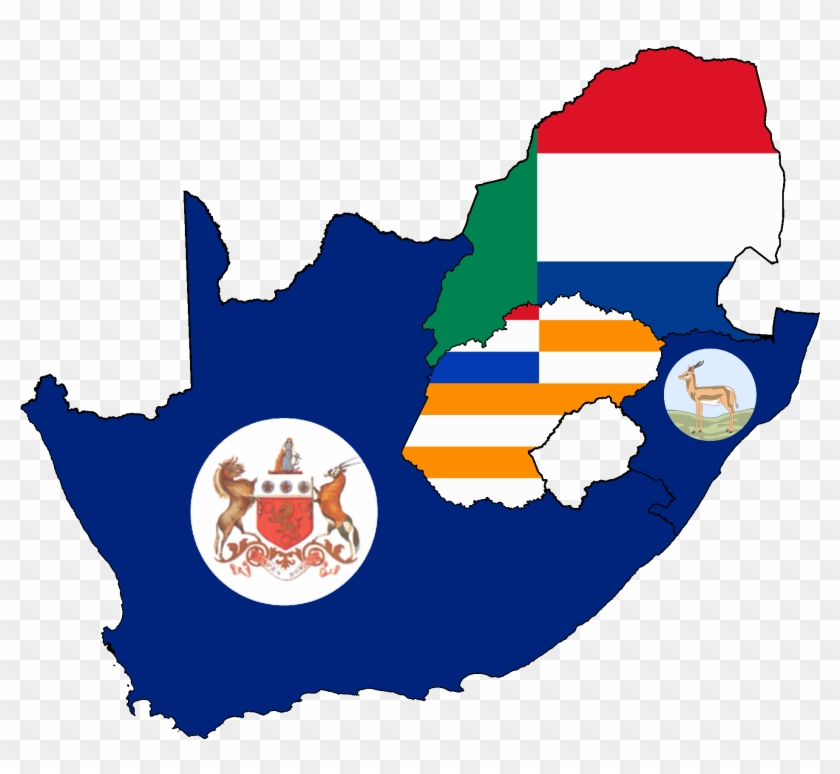 Flag Map Of South African Colonies - Flag Map Of South Africa #806503