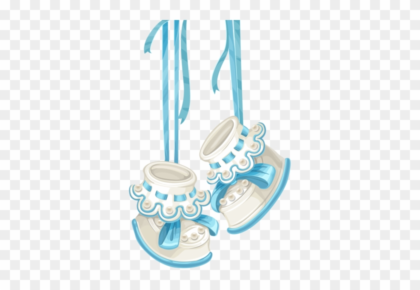 Baby Shower Card With Blue Booties And Lace [преобразованный] - Baby ...