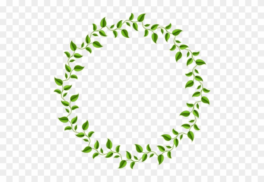Green Leaves Plants Frames - Transparent Leaf Circle Border #807133