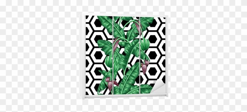 Seamless Pattern With Banana Leaves - Estampa Com Folha De Bananeira #807150
