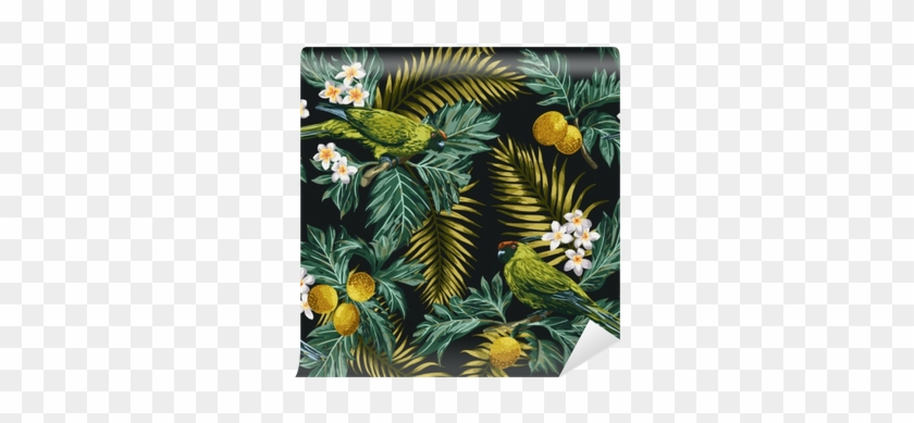 """Seamless Tropical Pattern With Leaves, Flowers And - Sleeve Duo For Apple Macbook Pro 13"""" - Black/leaf Pattern5 #807198"""