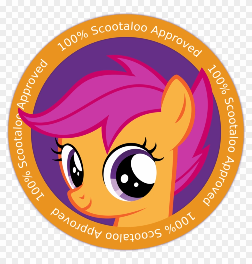 Scootaloos Badge Of Approval By Mlp Fim Filly Free Transparent