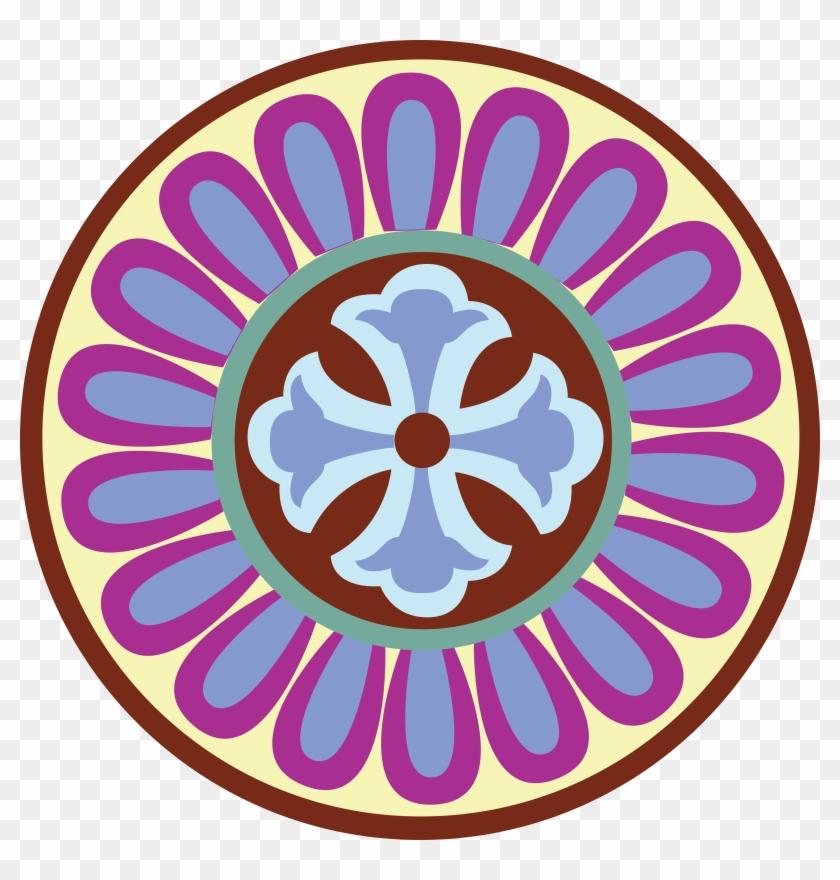 Png Coloured - Rangoli Circle Designs #808789