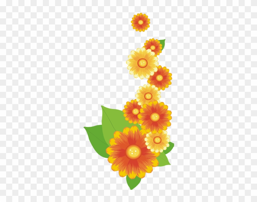Orange Flower 3 By Maxandpercy4ever - Yellow Orange Flowers Png #809157