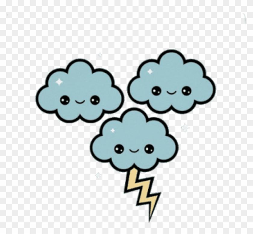 Rain Clouds Rayo Nubes Lluvia Cute Kawaii Sweet Dulce - Cute Kawaii ...