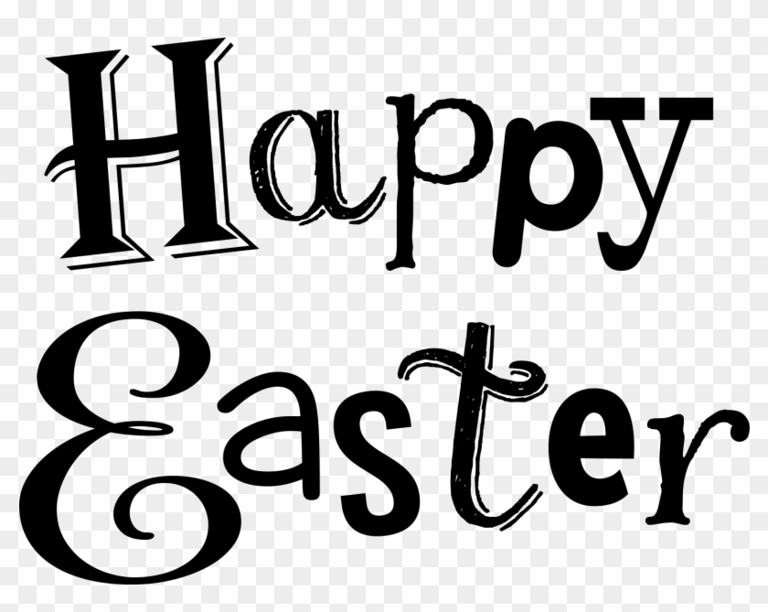 Religious Easter Clip Art Black And White Easter Clipart Happy