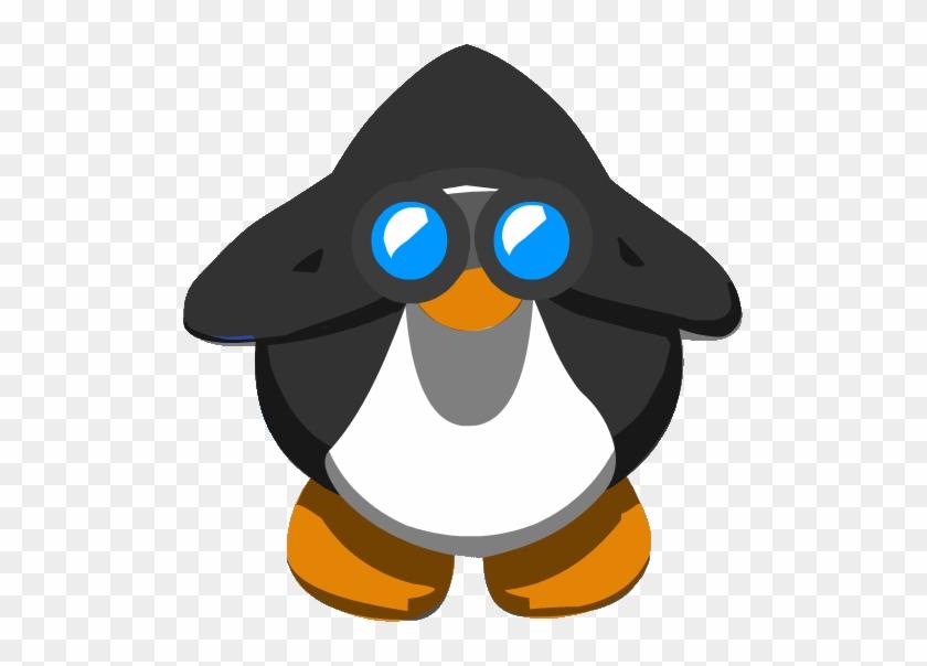 Binoculars View - Club Penguin Dancing Penguin Gif #811565