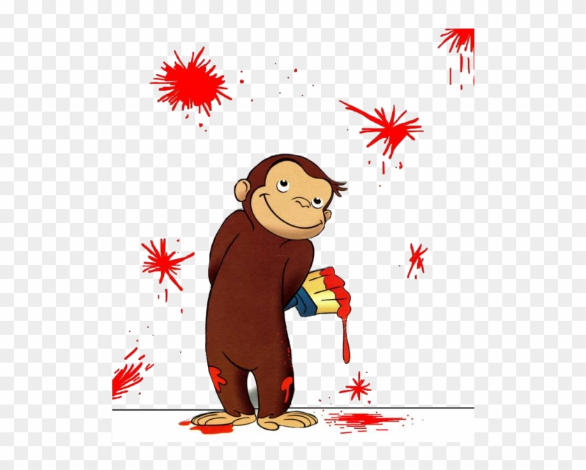 Curious George Cartoon Monkey Images On A Transparent