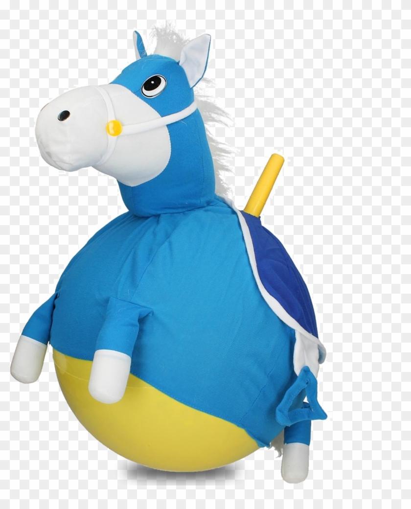 40cm Plush Pony Space Hopper Blue Horse Tst Toys Space Hopper For