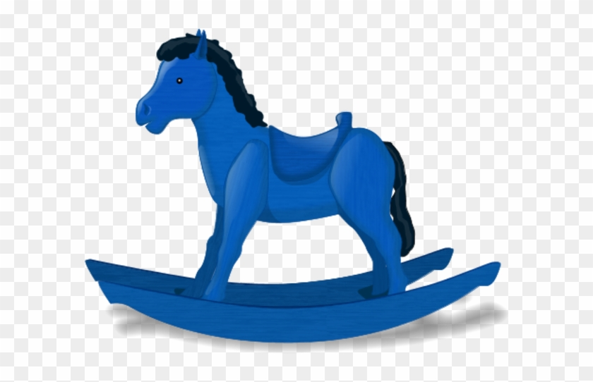 Rocking Horse Vector Clip Art - Rocking Horse Clip Art #811990