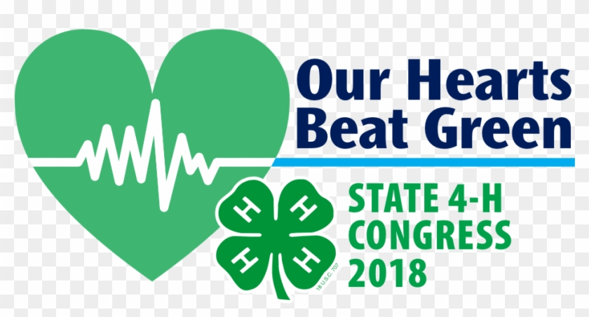 Our Hearts Beat Green Logo - 4 H Clover #812680