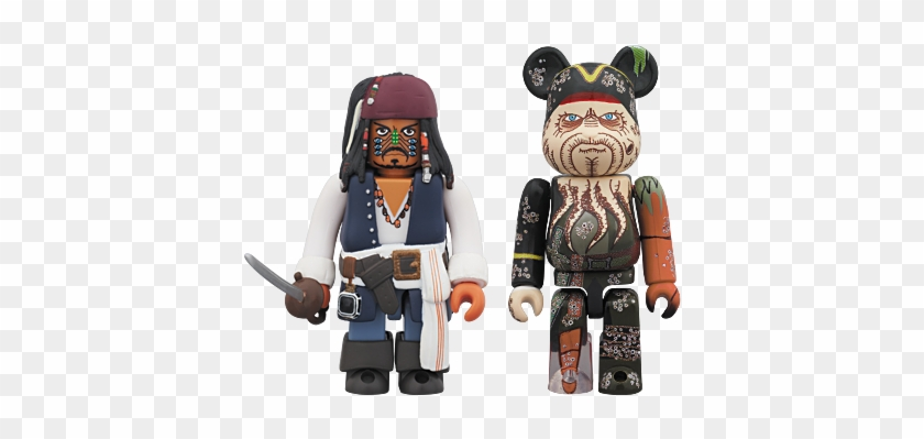 Kubrick Jack Sparrow Cannibal Eyes Version And Berbrick - Lego Pirates Of The Caribbean Blackbeard #813176