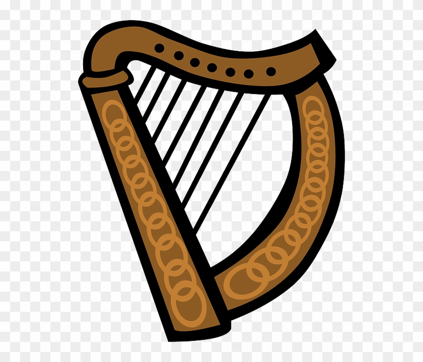 Equipment Music Celtic Simple Cartoon Harp Irish Love