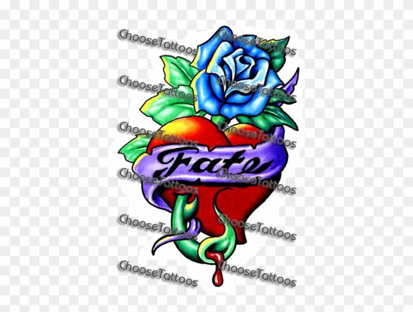 purple banner ribbon heart tattoo designs free transparent png