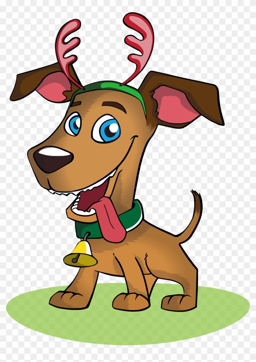 Dog Christmas Holiday Christmas Dog Pet Animal - Christmas Dog Vector Png #146961