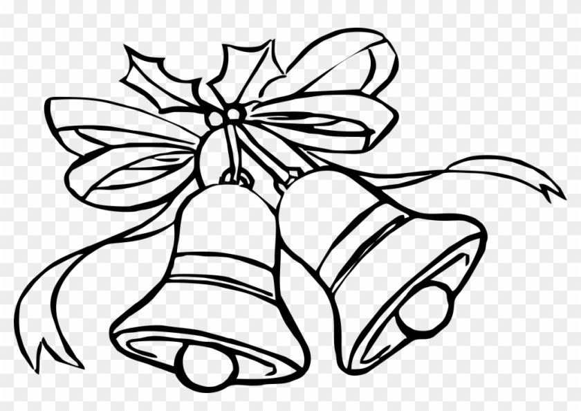 christmas bells drawing sketch of christmas bells free