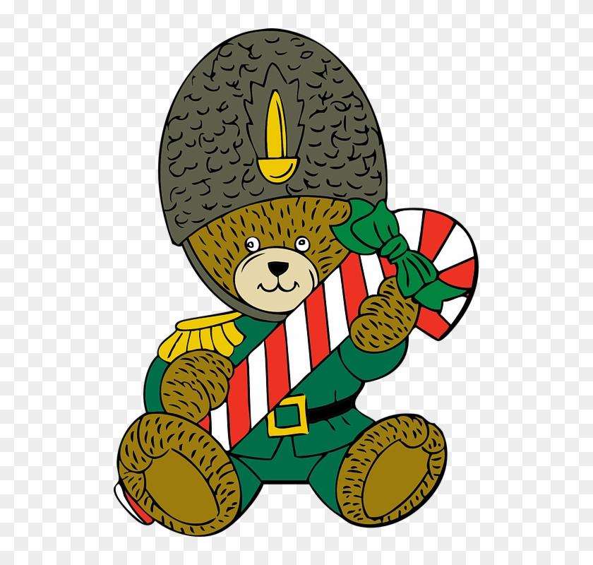 Teddy Bear Christmas Holiday Toy Guard Candy - Border Guard Clip Art #146993