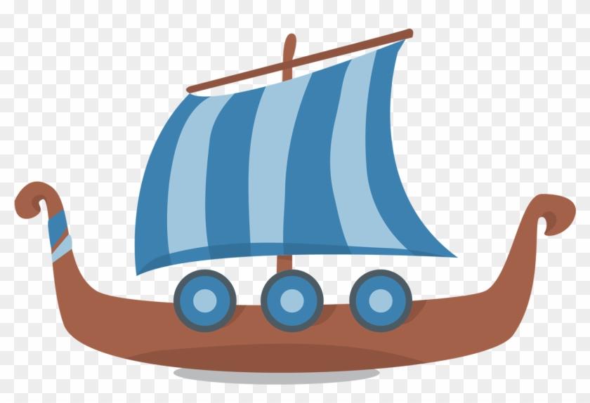 Viking Ships Dragon Boat Clip Art - Viking Backgrounds Powerpoint #147378
