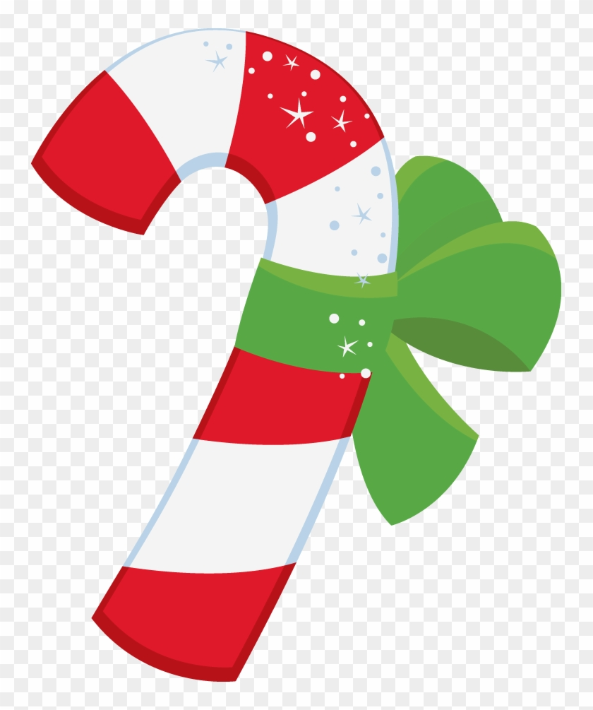 Candy Cane Clipart Winter Christmas - Candy Christmas Clipart Outline #147388
