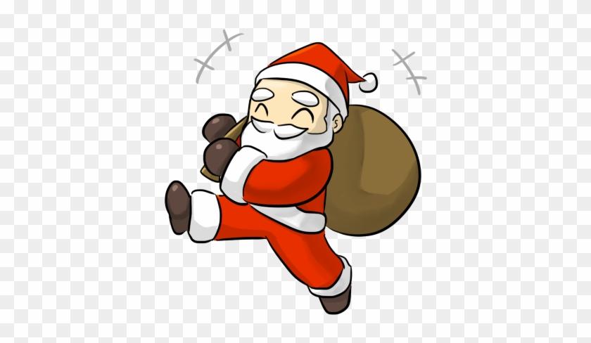 Sanya Clipart Jolly - Christmas Santa Cartoon Png #147496