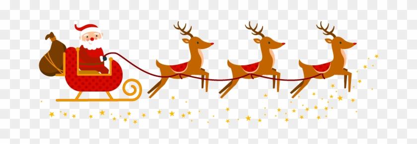 Santa Reindeers Elf Town Galway - Reindeer Santa Png #147506