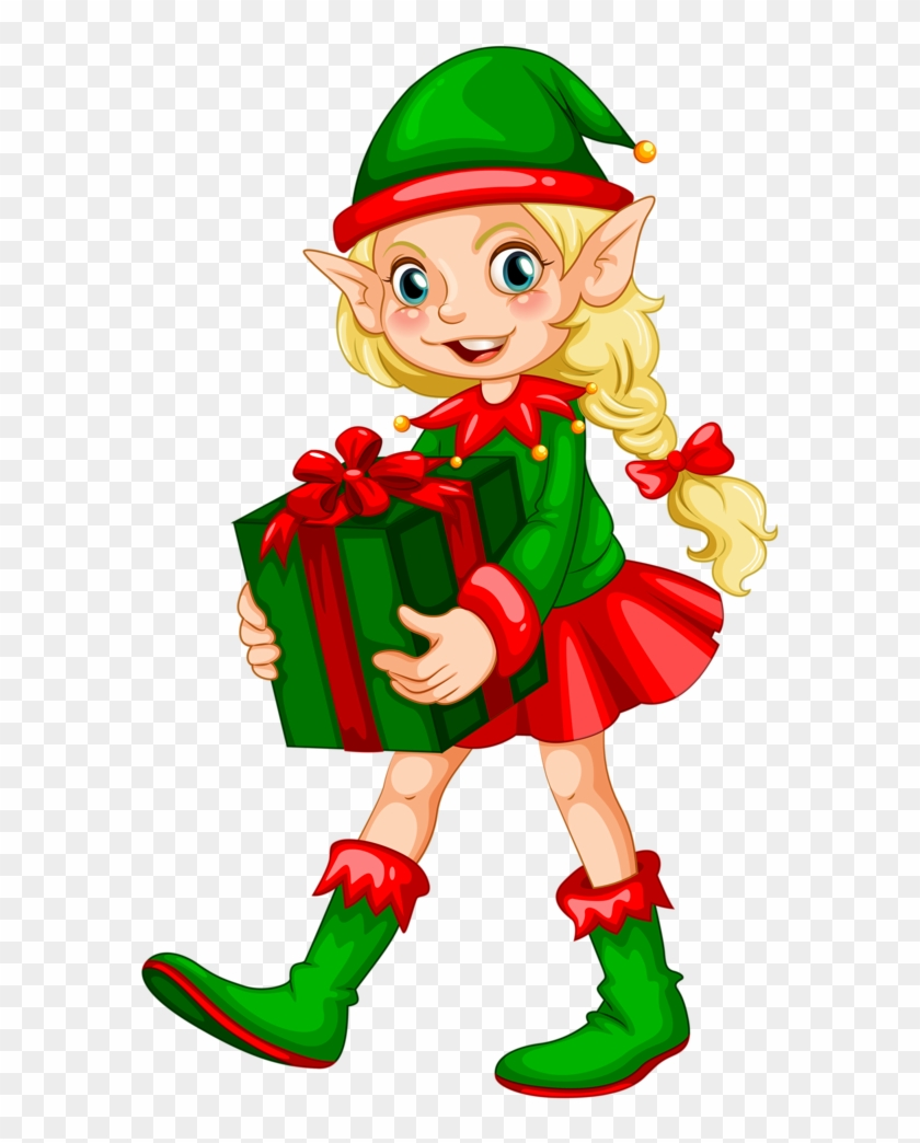 Funny Animated Christmas Clipart - Christmas Elves Png ...