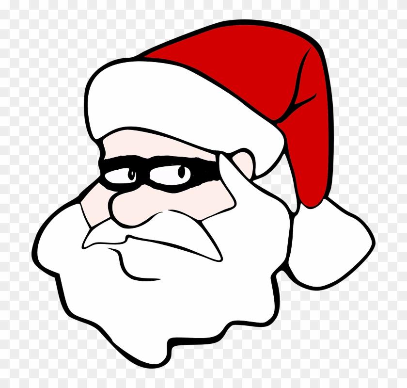 Santa Claus Santa Christmas Xmas Winter Holiday - Cartoon Santa Face Png #147605