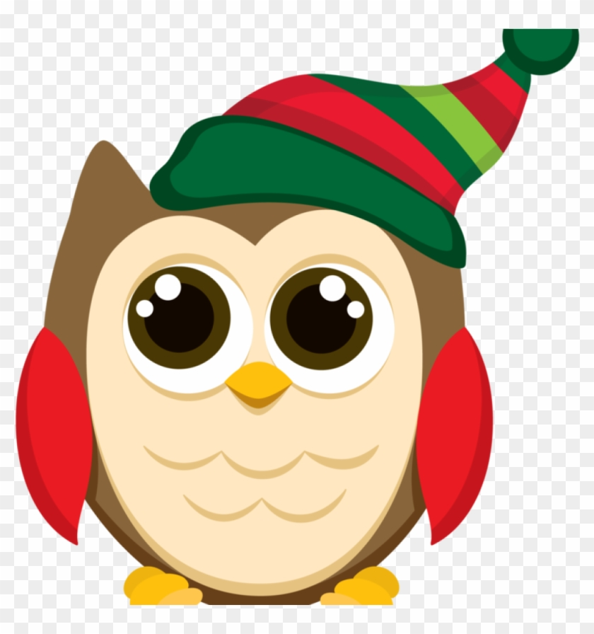 Christmas Owl Clipart Christmas Owl Clip Art Patterns - Owl Christmas Tile Coaster #147705