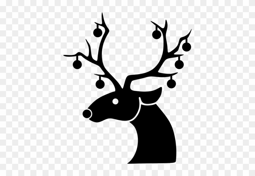 947 Christmas Reindeer Clipart Free Public Domain Vectors - Sequin Christmas Reindeer Oval Ornament #147733